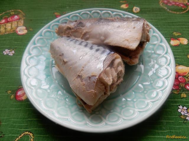 Рецепт Отварная скумбрия с луком рецепт с фото
