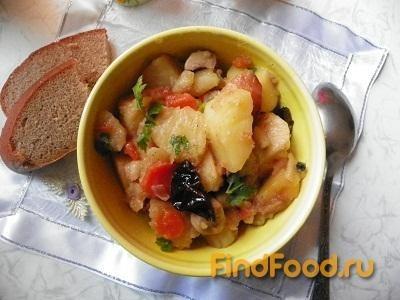 Рецепт Картошка с грибами и черносливом рецепт с фото