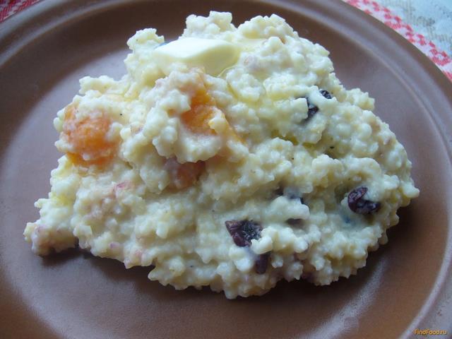 Рецепт Пшенная каша с сухофруктами рецепт с фото
