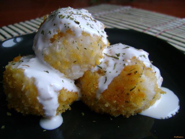 Рецепт Рисовые шарики с сыром рецепт с фото