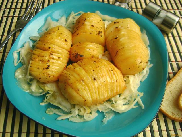 Рецепт Картофель с лимонно-горчичной заправкой рецепт с фото