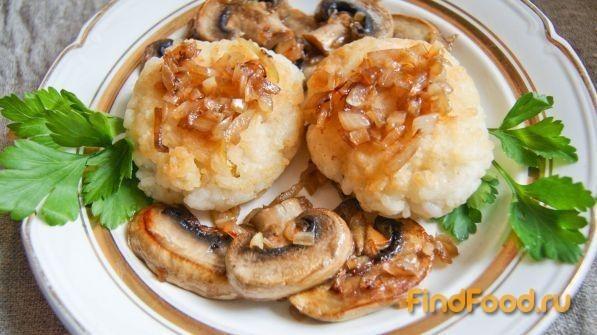 Рецепт Рисовые котлеты с грибным гарниром рецепт с фото