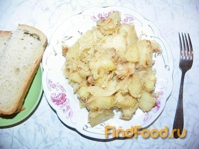 Рецепт Картошка с квашеной капустой рецепт с фото