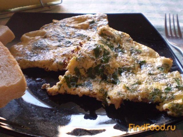 Рецепт Омлет с курицей и зеленью рецепт с фото