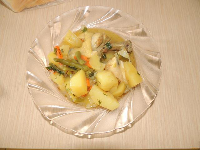 Рецепт Рагу из курицы с фасолью рецепт с фото