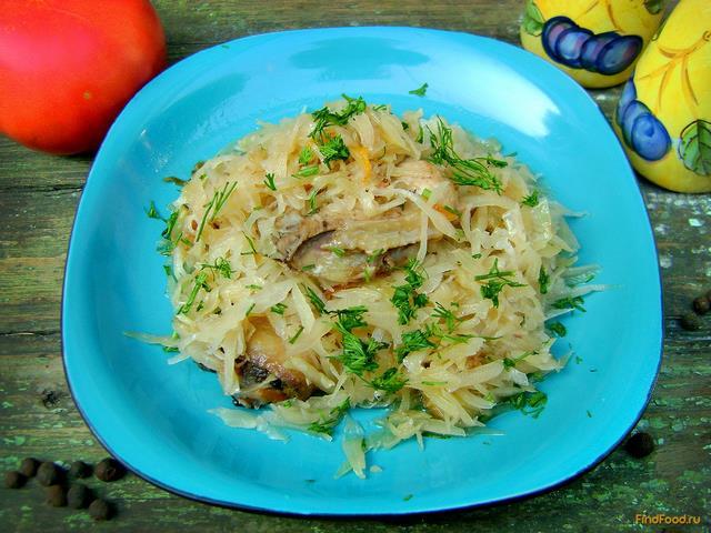 Рецепт Рагу из квашеной и свежей капусты рецепт с фото