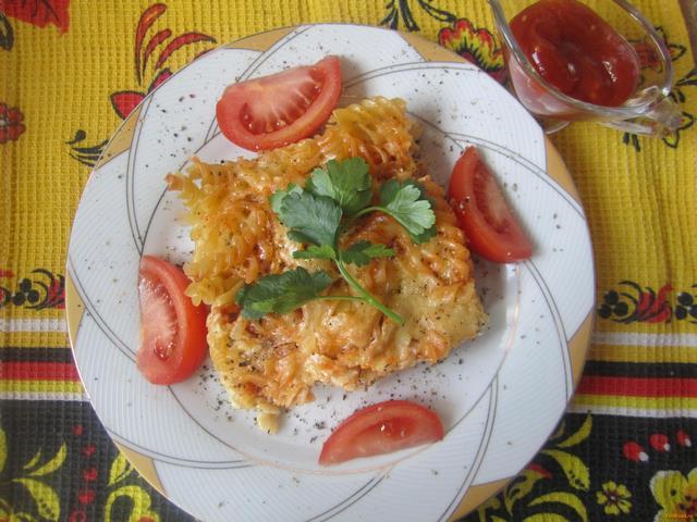 Рецепт Макаронная запеканка по-простому рецепт с фото