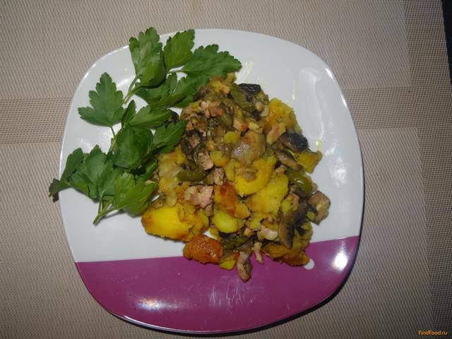 Рецепт Овощное ассорти с беконом и грибами рецепт с фото