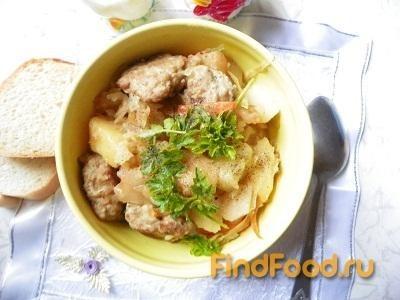 Рецепт Картофель с куриными тефтелями рецепт с фото