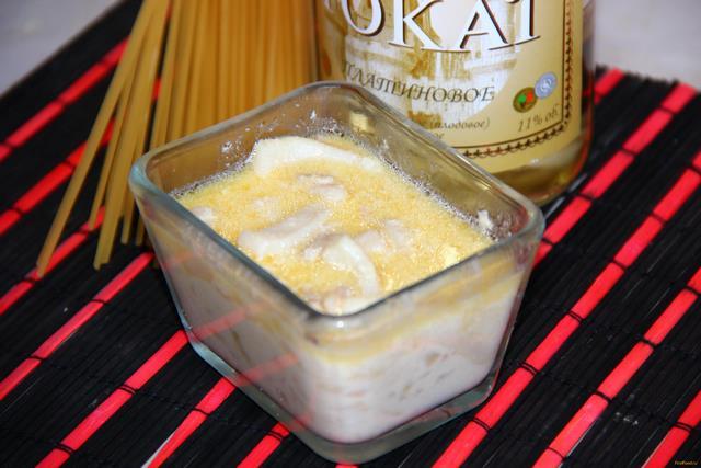 Рецепт Кальмар в сливочном соусе рецепт с фото