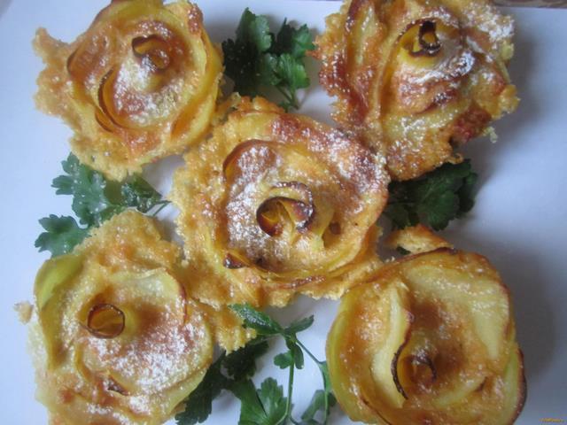 Рецепт Картофельно-морковная запеканка Розы рецепт с фото