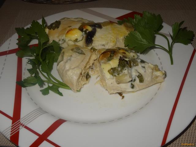 Рецепт Куриная грудка в винном маринаде и грибами рецепт с фото