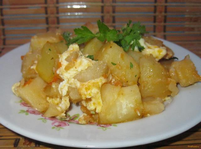 Рецепт Картофель с яйцом по-домашнему рецепт с фото