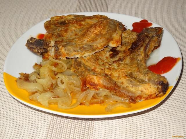 Рецепт Запеченная свинина в майонезе с луком рецепт с фото