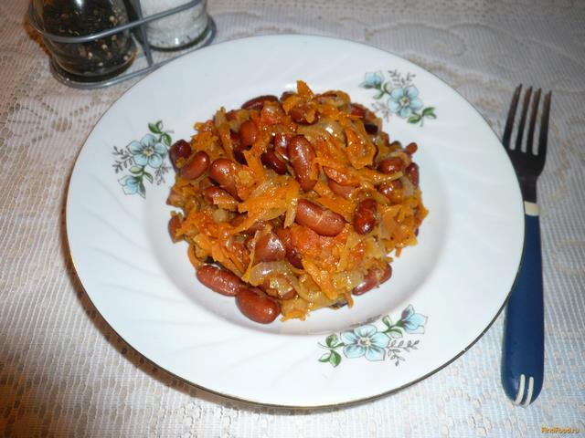 Рецепт Фасоль тушеная с овощами рецепт с фото