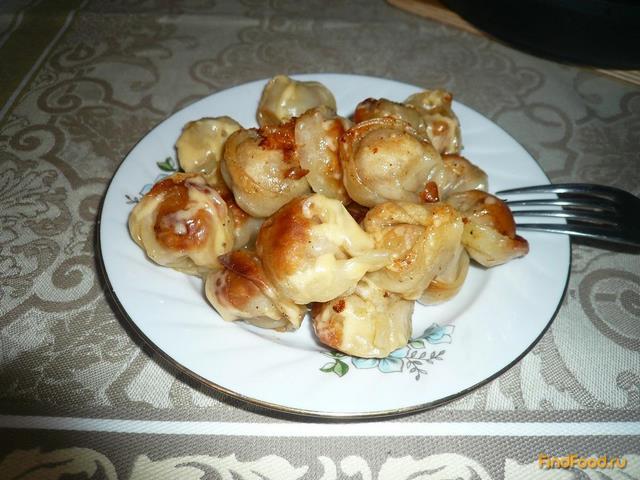 Рецепт Жареные пельмени с сыром рецепт с фото