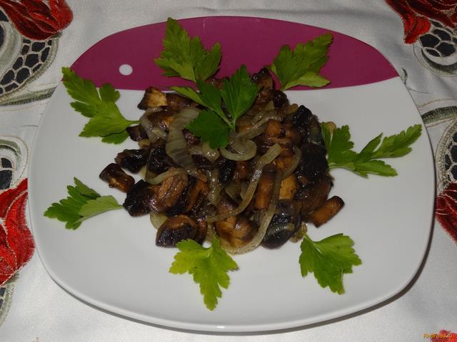 Рецепт Жареные грибы шампиньоны рецепт с фото