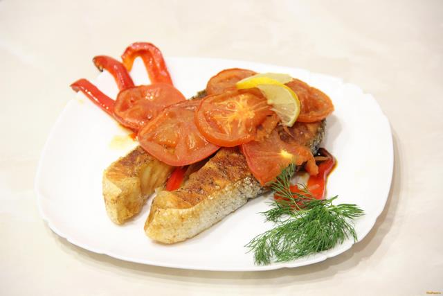 Рецепт Семга запеченная с овощами рецепт с фото