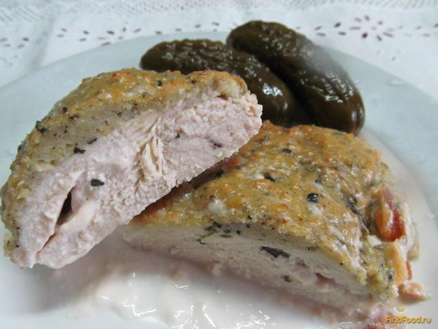 Куриное филе под хлебным соусом рецепт с фото 6-го шага