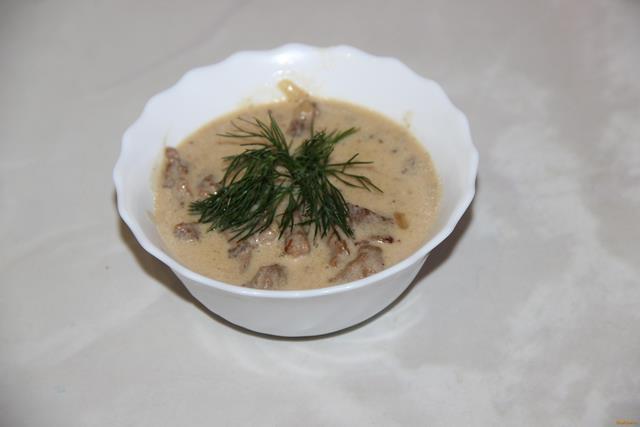 Рецепт Бефстроганов со сметаной рецепт с фото