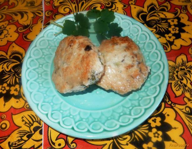 Рецепт Куриные котлеты с зеленым луком рецепт с фото