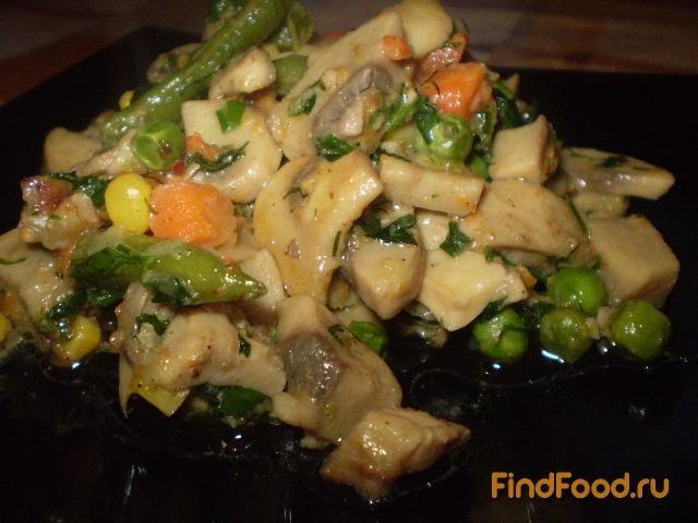 Рецепт Грибы с овощами рецепт с фото