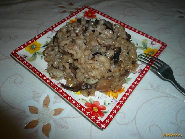 Рецепт Перловая каша с грибами в духовке рецепт с фото