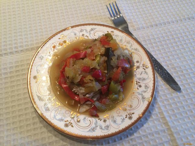 Рецепт Минтай с овощами в конверте рецепт с фото