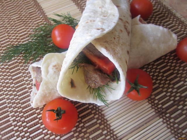 Рецепт Буррито с говядиной рецепт с фото