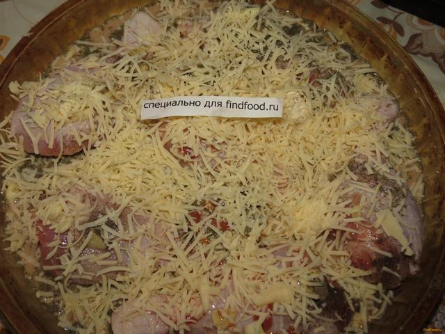 рецепт куриных голеней с сыром в духовке рецепт