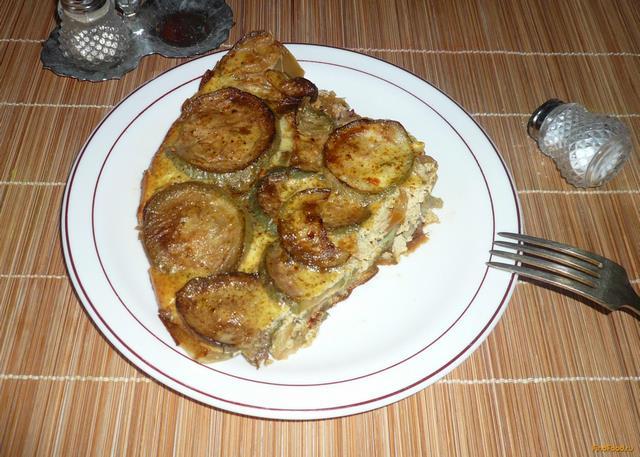 Рецепт Запеканка из кабачков и болгарского перца рецепт с фото