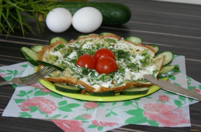Рецепт Омлет с брокколи и стручковой фасолью рецепт с фото