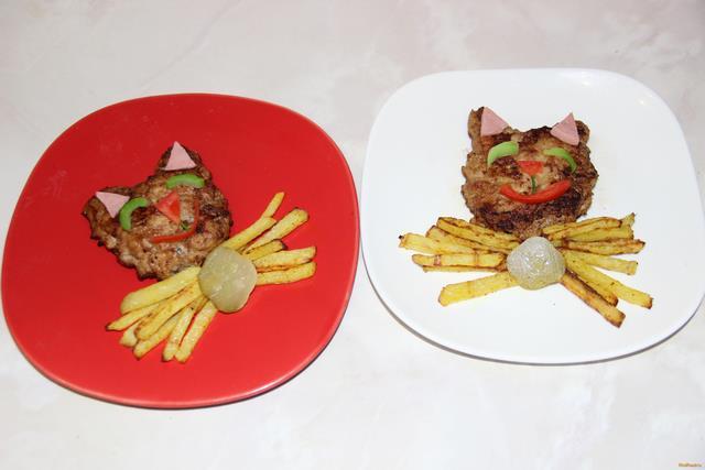 Рецепт Детское блюдо Котята рецепт с фото