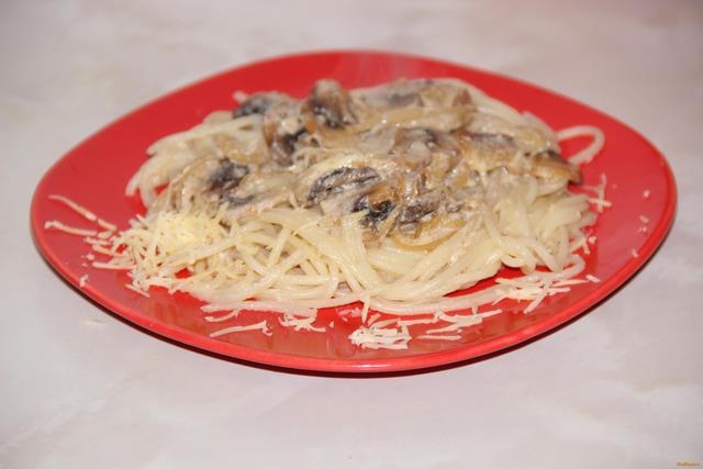 Рецепт Паста с грибным соусом рецепт с фото