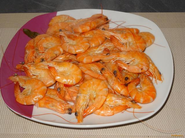 Рецепт Вареные королевские креветки рецепт с фото