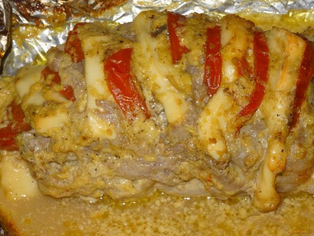 Рецепт свинины с сыром в фольге в духовке