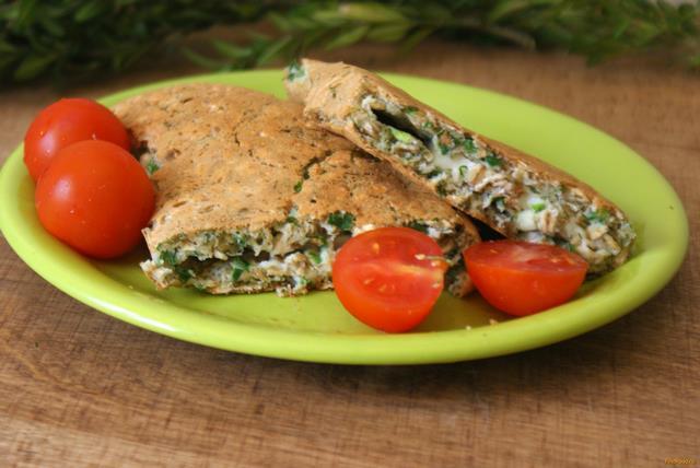 Рецепт Геркулесовый омлет с сыром и зеленью рецепт с фото