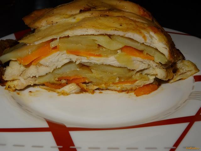 Рецепт Куриная грудка запеченная с овощами рецепт с фото