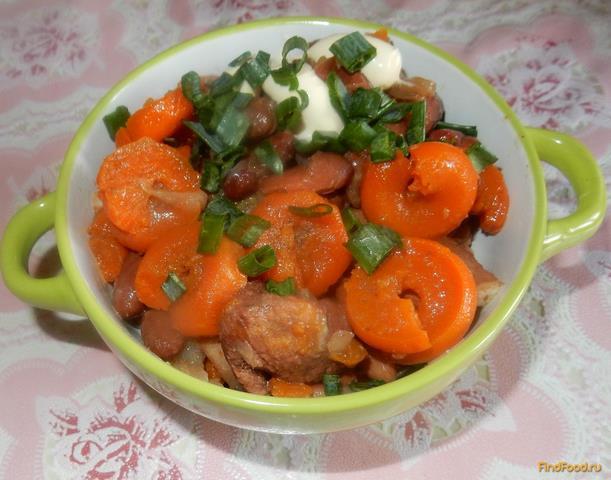 Фасоль с свининой рецепт пошагово