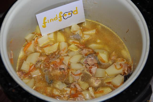 Картофель с консервированной горбушей рецепт с фото 7-го шага