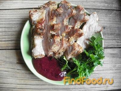 Рецепт Запеченное мясо с горчично-смородиновым соусом рецепт с фото