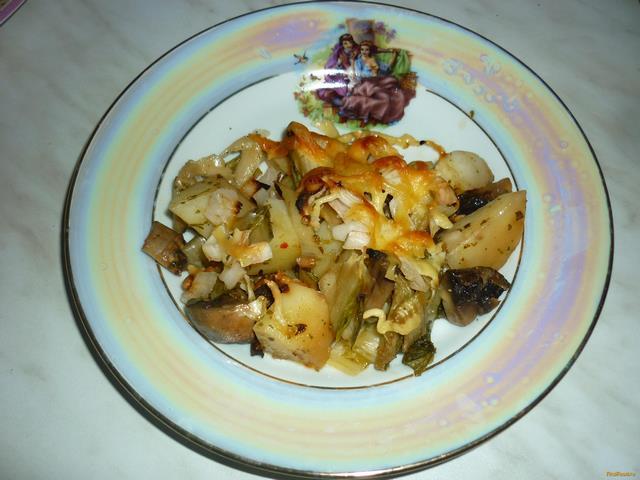 Рецепт Запеченный картофель с шампиньонами рецепт с фото