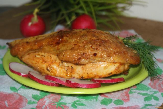 Рецепт Запеченная куриная грудка рецепт с фото