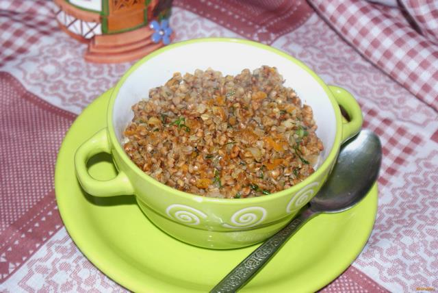 Рецепт Гречневая каша с овощами и чесноком рецепт с фото