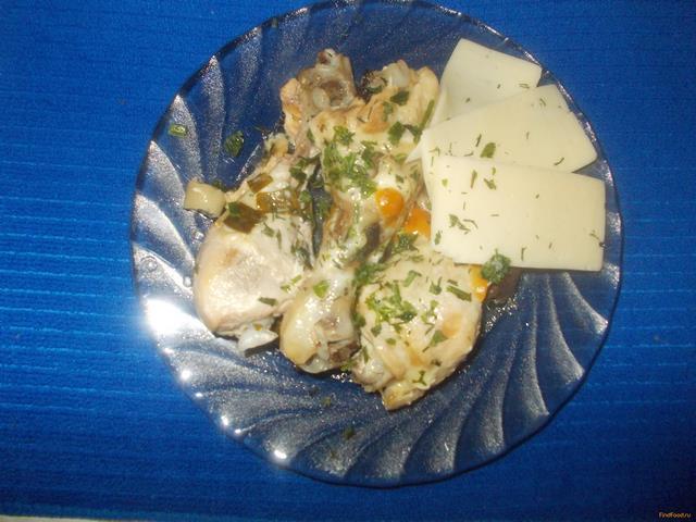 Рецепт Куриные ножки с маслятами и сыром в мультиварке рецепт с фото