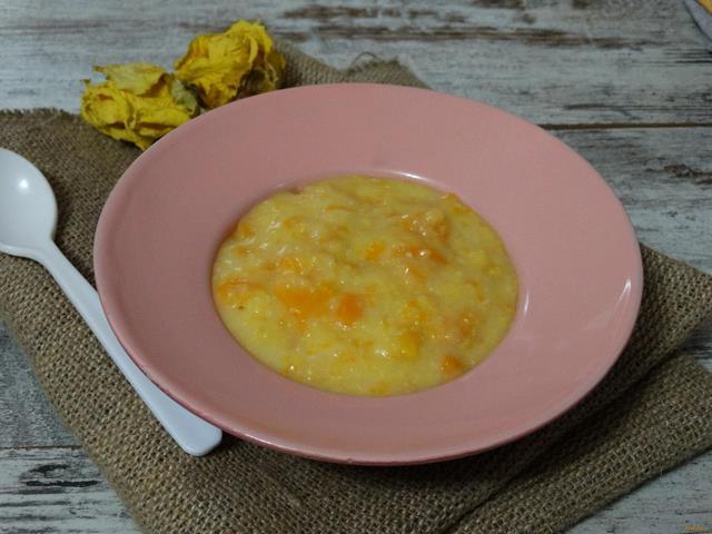 Рецепт Тыквенно-кукурузная каша рецепт с фото