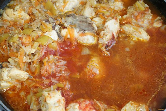 Курица тушеная рисом рецепт фото