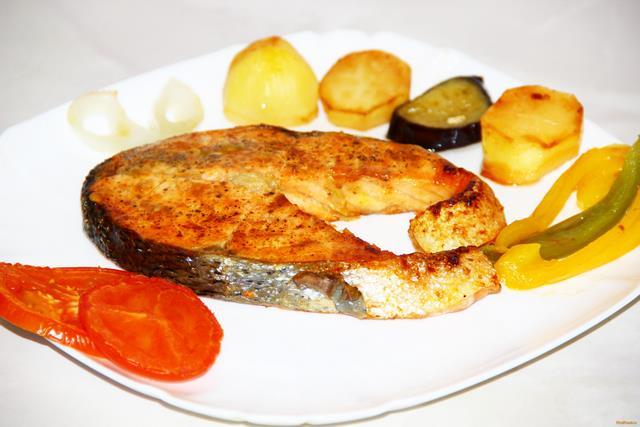 Рецепт Лосось запеченный с овощами рецепт с фото