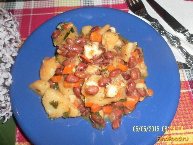 Рецепт Овощное рагу с копченым сыром рецепт с фото