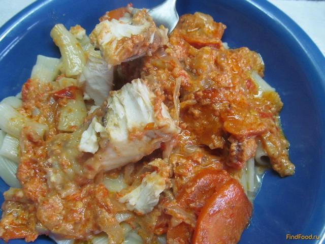 Рецепт Щука с овощами в соусе рецепт с фото